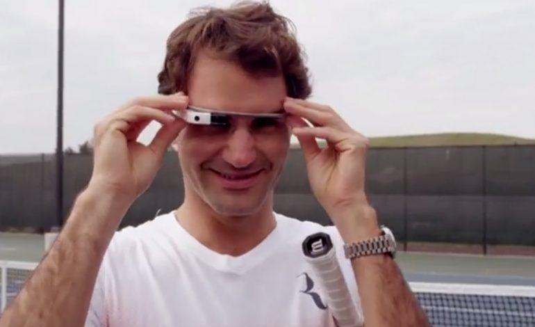 Video: Roger Federer oynadığı tenis maçını Google Glass ile kaydetti