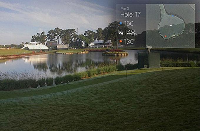 Google Glass şimdi de golf turnuvasında