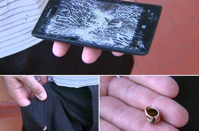 Lumia 520 kurşunu engelledi!