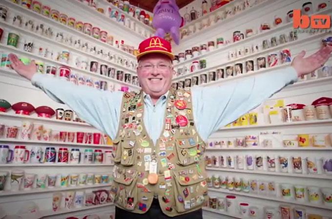 50 yıldır McDonald's eşyaları topluyor