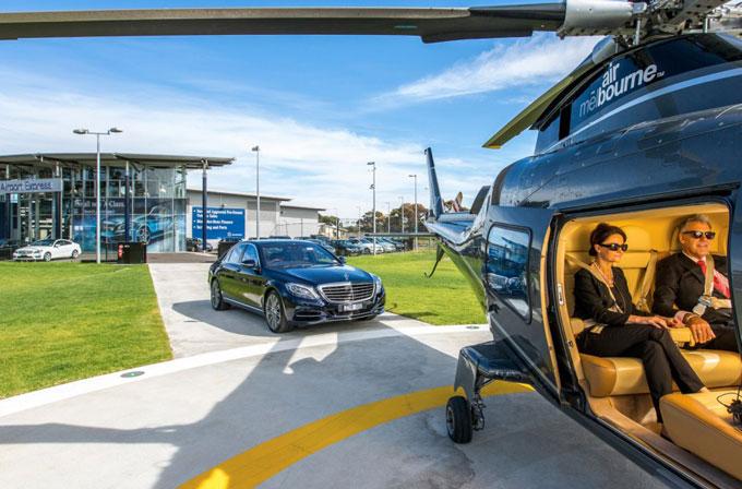 Mercedes-Benz'den helikopter hizmeti!