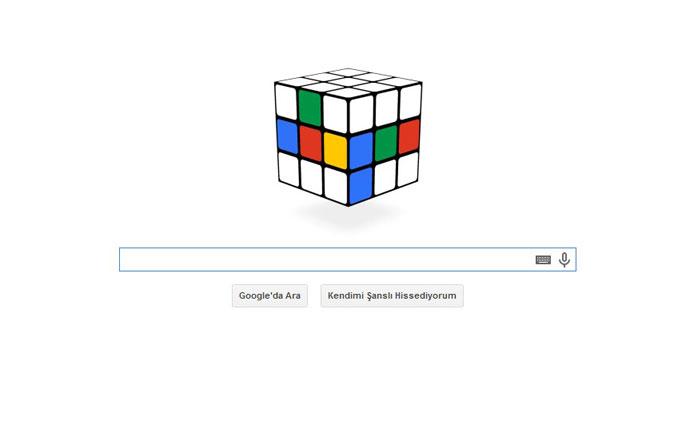 Google'dan rubik küp doodle'ı