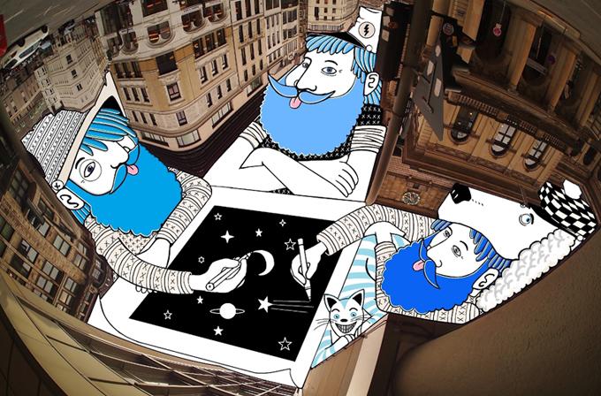 Galeri: Gökyüzünü boyayan adam