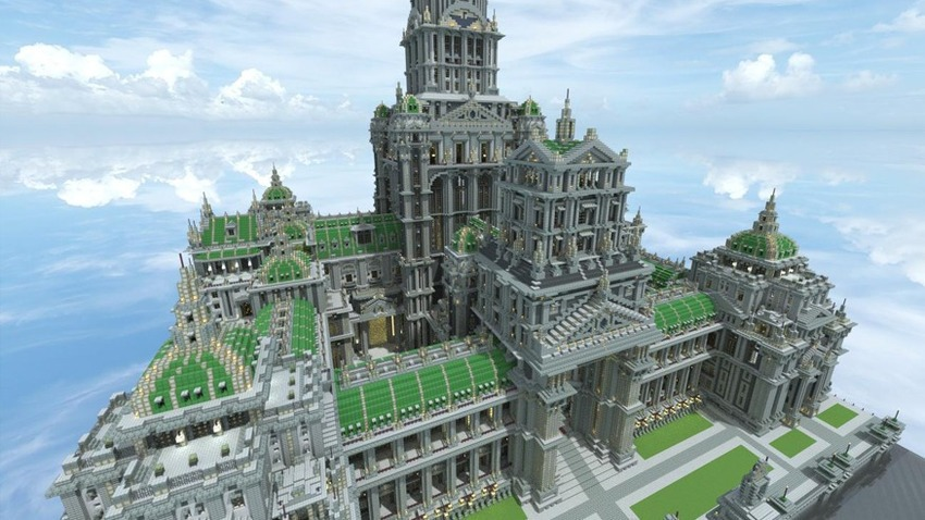 Big minecraft castle download