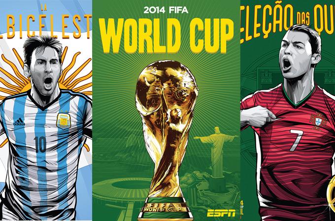 Galeri: 2014 Dünya Kupası için hazırlanmış muhteşem posterler