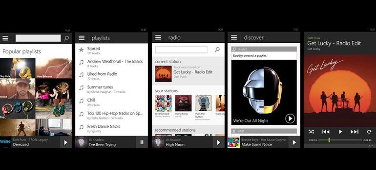 Spotify, Windows Phone'da yenilendi