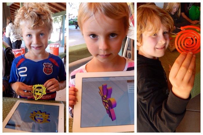 Çocuklar için dizayn edilmiş 3D yazıcı