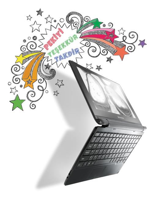 Lenovo Flex A10 dokunmatik ekranlı dizüstü bilgisayarı