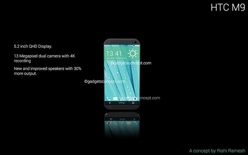 HTC One M9 Konsept tasarımı Rishi Ramseh