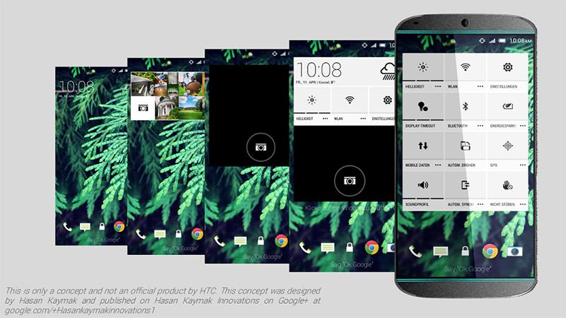 HTC One M9 Konsept tasarımı Hasan Kaymak