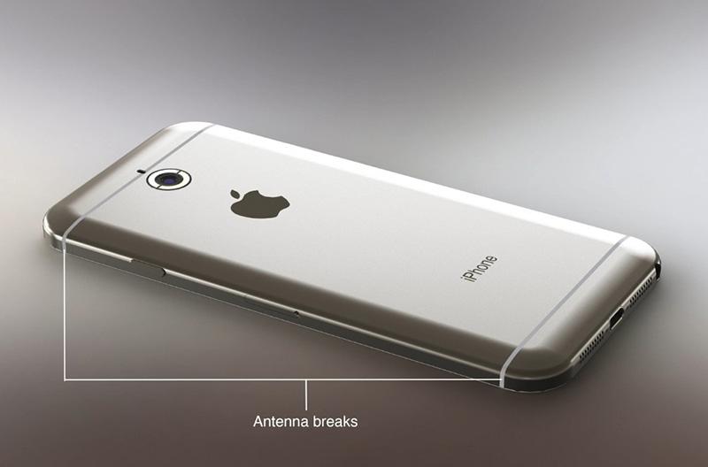 iOS 8'li iPhone 6 konspet tasarımı - Arka kısım
