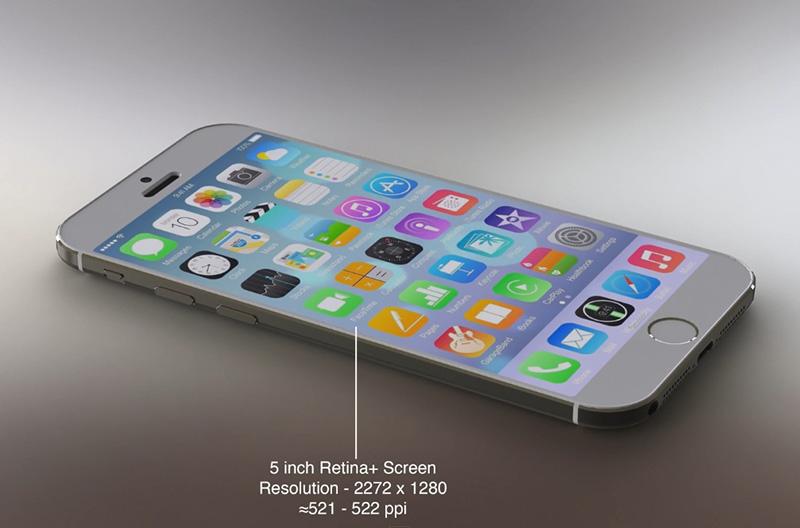 iOS 8'li iPhone 6 konspet tasarımı -Ekran