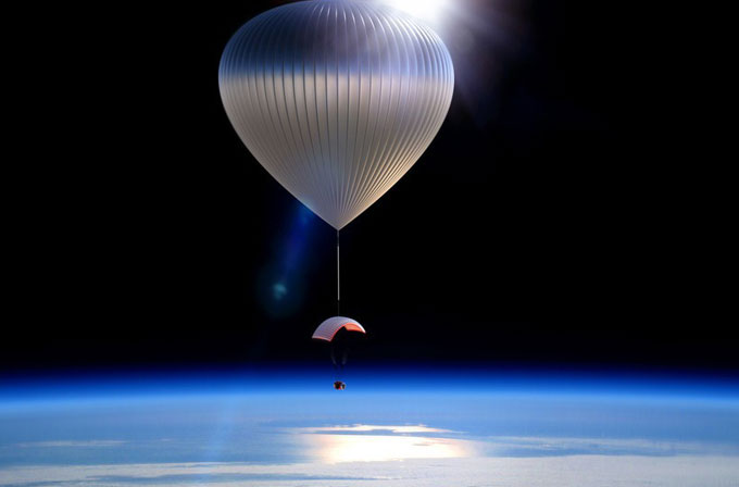Turistlere balonla uzay gezisi!