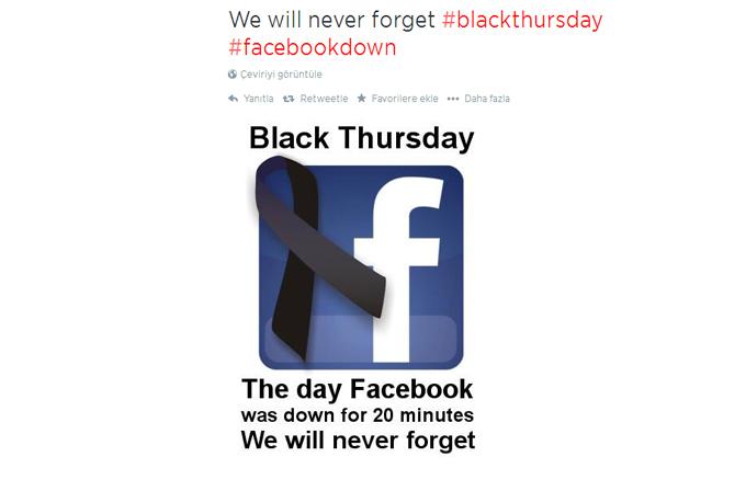 Galeri: Facebook çöktü Twitter coştu! İşte ilginç tweet'ler