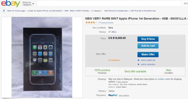 Orijinal iPhone eBay ilanı