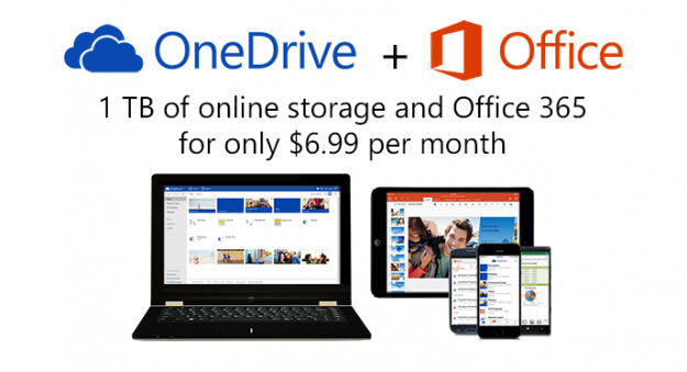 One Drive'ın ücretsiz depolaması 15GB oldu!