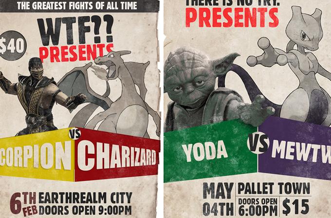 Galeri: Farklı dünyanın karakterleri dövüş posterlerinde karşı karşıya