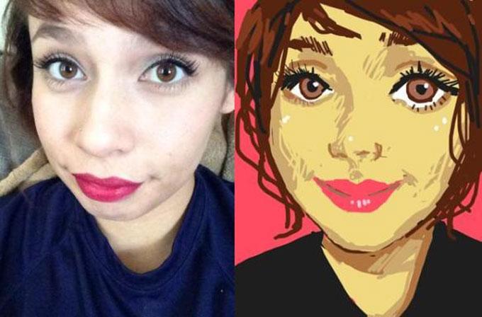 Selfie çekimler için eğlenceli uygulama: French Girls