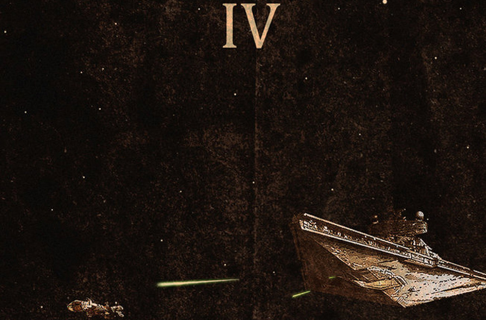 Galeri: Bu Star Wars posterlerinde baş rol gemilerin