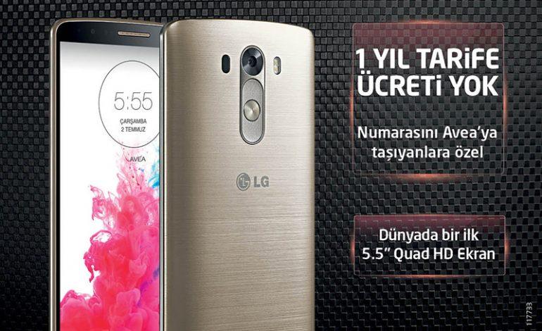 """LG G3""""ü Avea'dan alanların 1 yıllık faturası Avea'dan hediye!"""