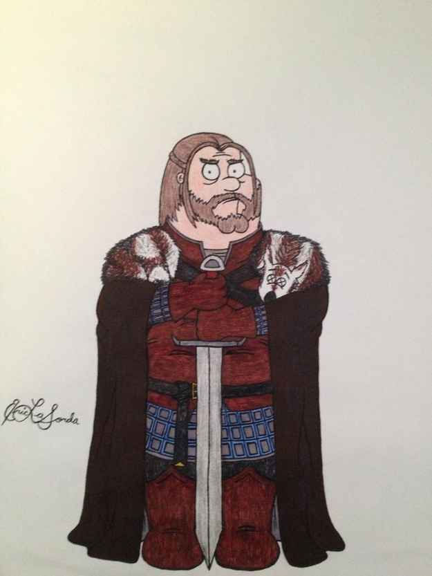 Family Guy karakterleri Game of Thrones'ta olsalardı