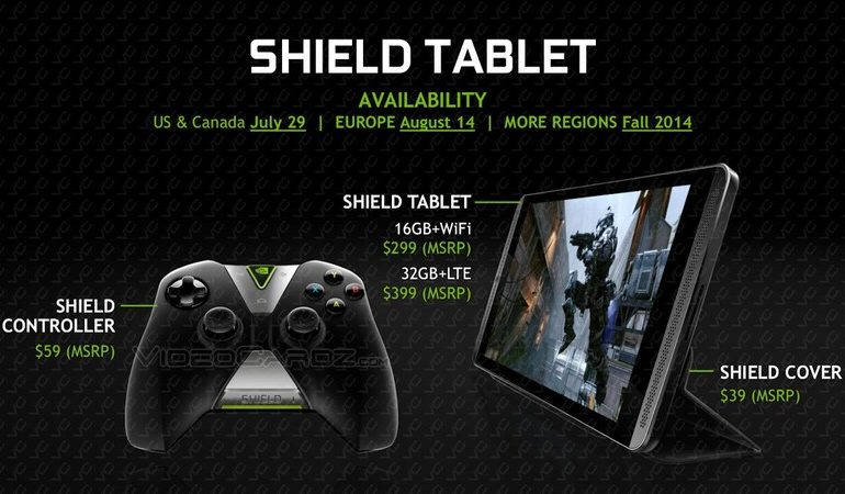 Gamescom 2014 etkinliğinde NVIDIA Shield Tablet Avrupa tanıtımı