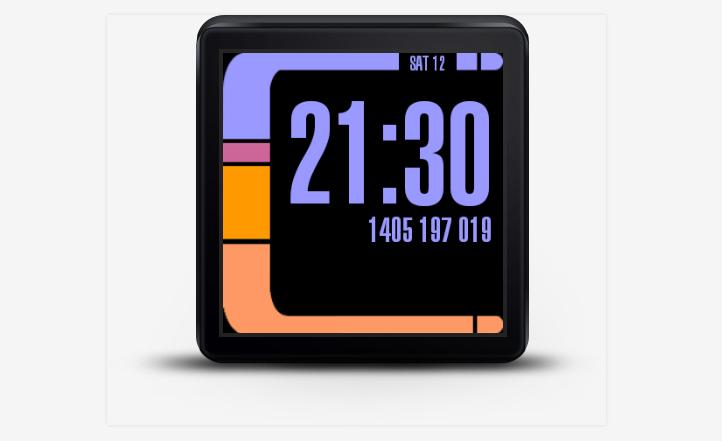 Android akıllı saatler için Star Trek yüzü