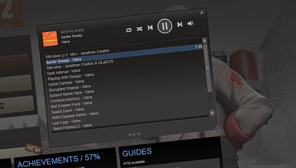 Steam'ın müzik hizmeti kullanılabilir duruma geldi