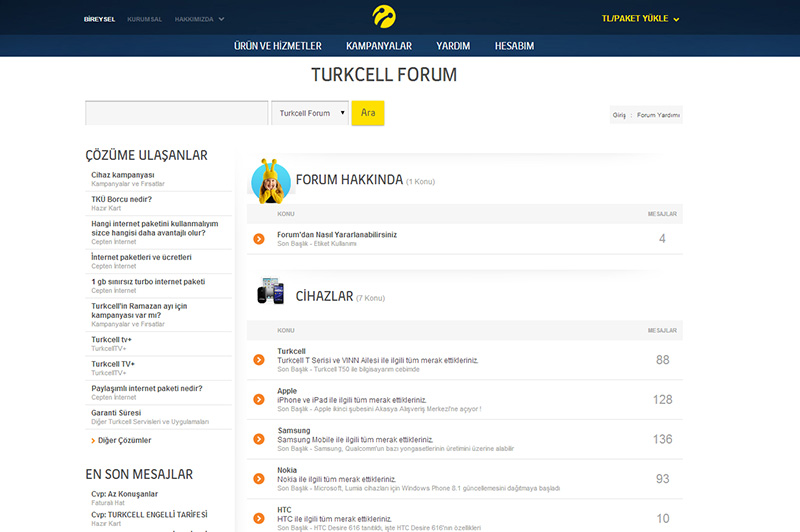 Turkcell Forum kullanıcıların sorunlarına destek olacak