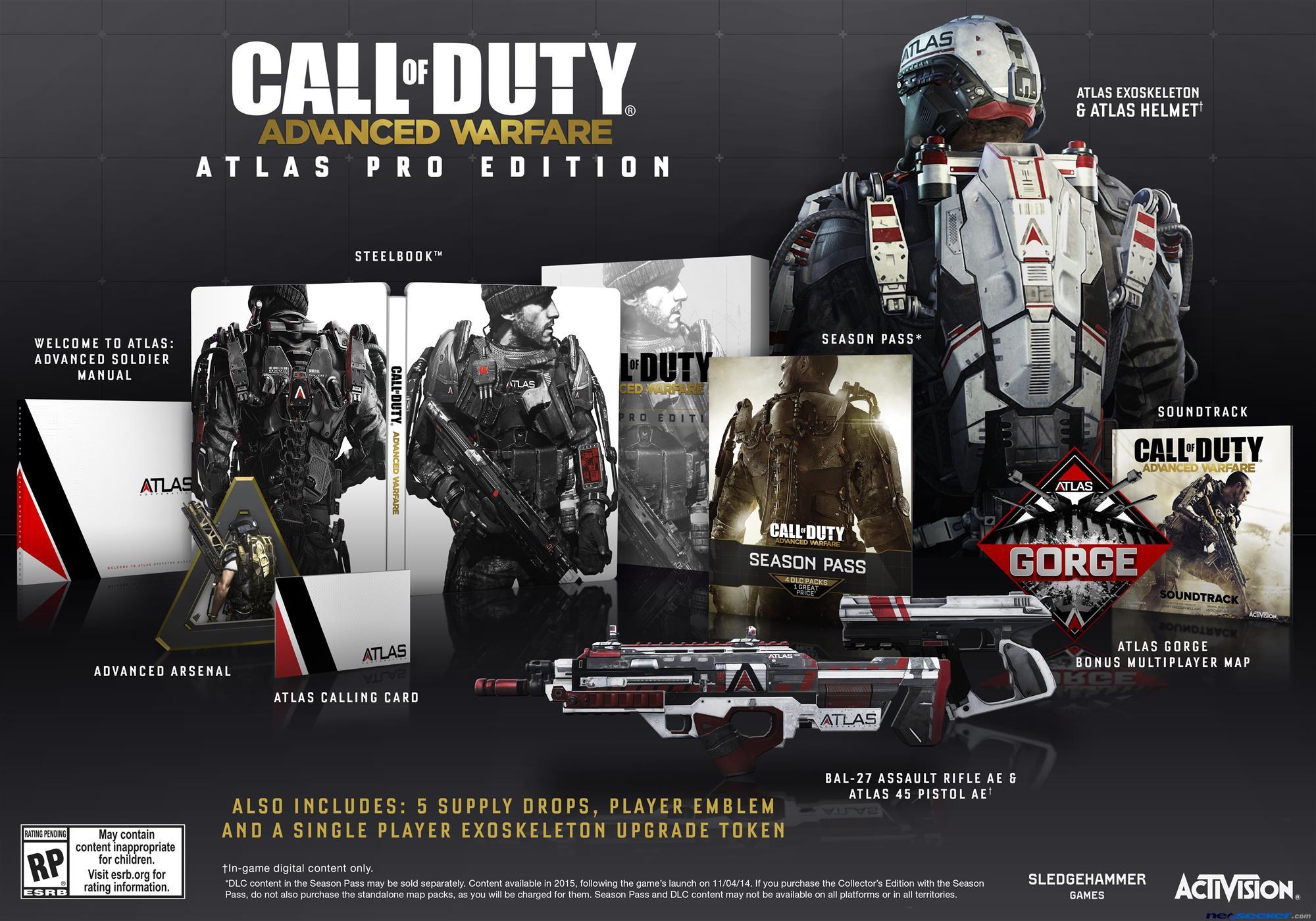 Call Of Duty: Advanced Warfare Atlas Editions