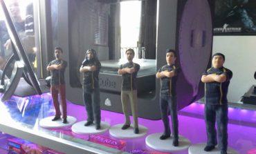 3D yazıcıdan çıkartılmış e-spor oyuncuları figürü