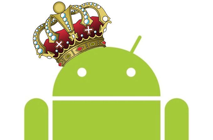 Android dünyayı ele geçirmeye devam ediyor