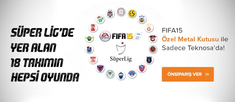 Türkiye Süper Lig'in de içinde bulunduğu FIFA 15 özel metal kutusuyla sadece Teknosa'da