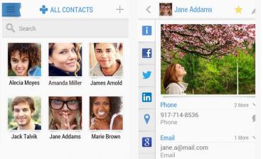Sıkıcı rehber görünümüne son: Contacts+