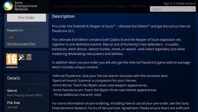 Diablo 3: Ultimate Evil Edition oldukça sağlam yer istiyor