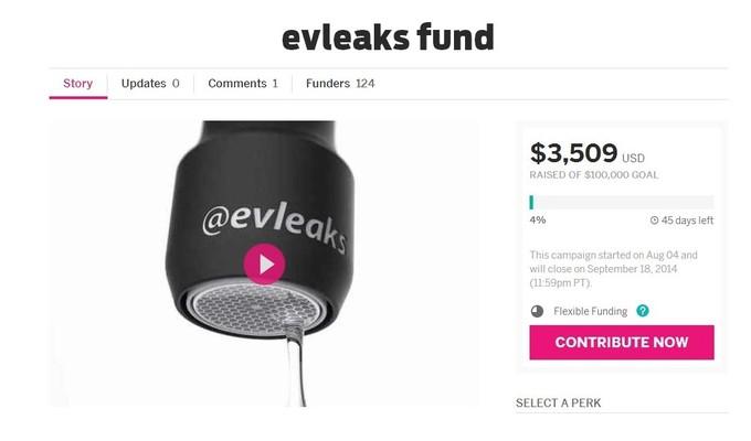 evleaks indiegogo fon toplama projesi