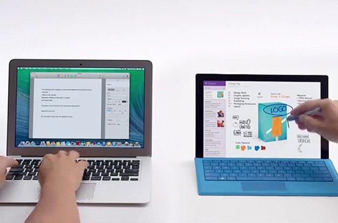 Microsoft, Surface Pro 3 reklamlarında yine Mac ile dalga geçiyor