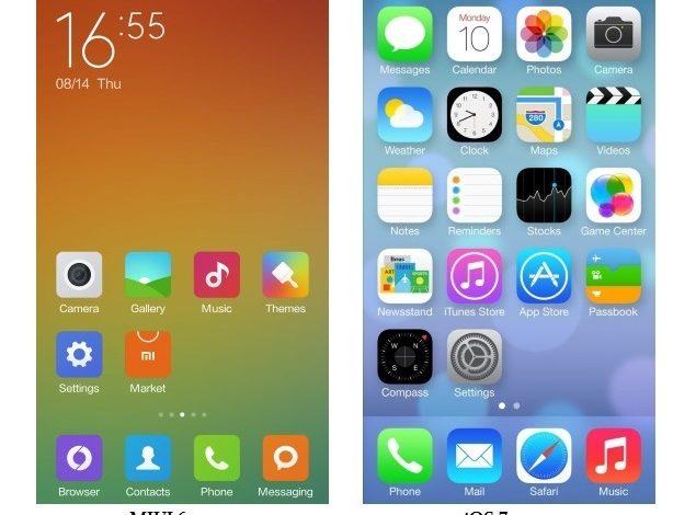 Xiaomi'nin yeni Android arayüzü MIUI, iOS 7'ye çok fazla benziyor