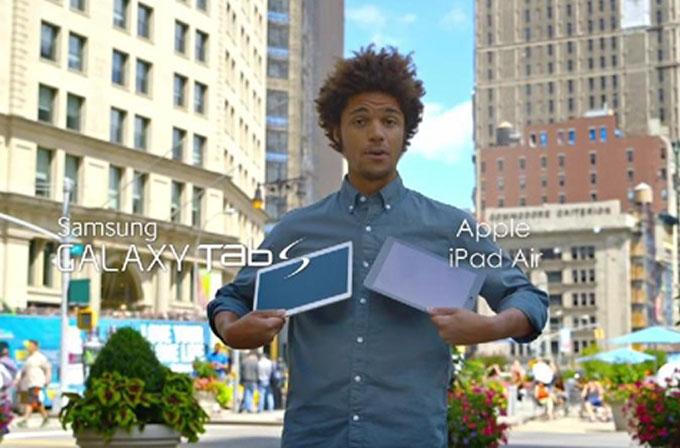 Samsung'un yeni reklamında insanlara iPad mi Tab S mi sorusu soruluyor