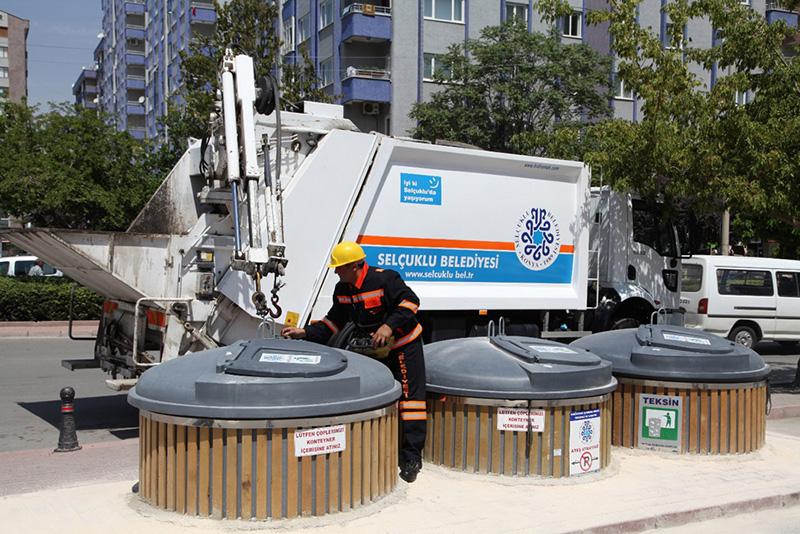 şu anda Selçuklu Belediyesi'nin 15 konteynerinde uygulanan teknoloji, yakın zamanda toplamda 3.850 çöp konteyneri için de kullanılacak.