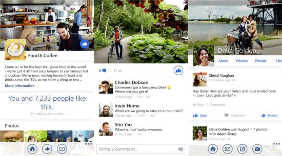 Facebook'un yeni Windows Phone uygulaması