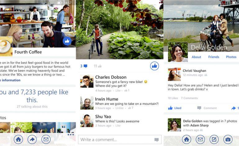 Facebook'un Windows Phone uygulaması baştan aşağı yenilendi
