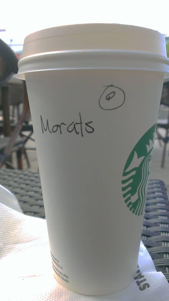 Misal İsveç'teki Starbucks'ta Murat ismini bu şekilde yazmışlardı