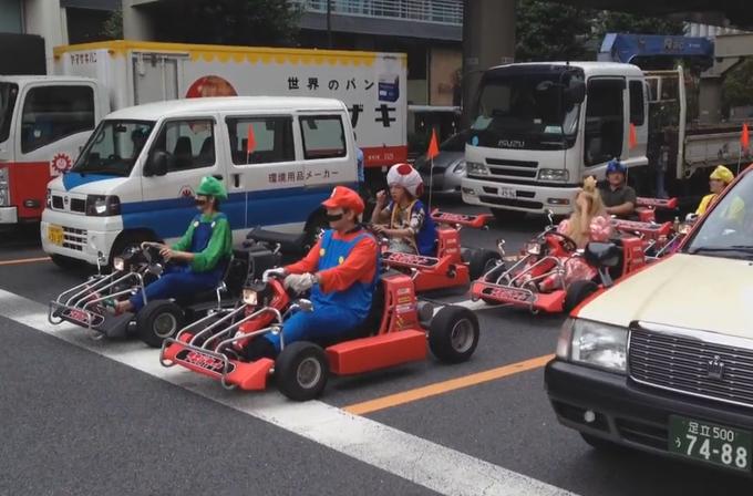 Video: Mario Kart oyunu Japonya'da gerçek oldu