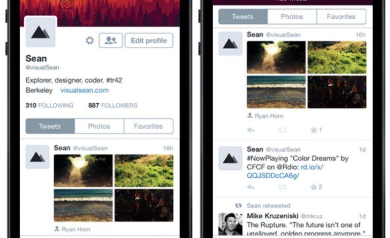 Twitter'ın iPhone sürümünün tasarımı değişti