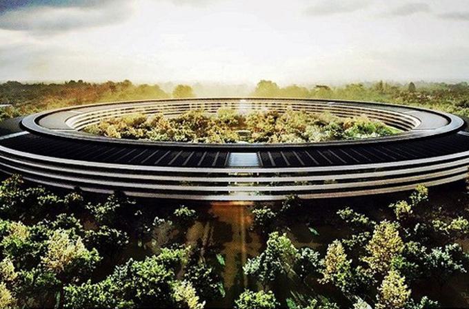 Video: Apple'ın Uzay Gemisi kampüsünden drone görüntüleri