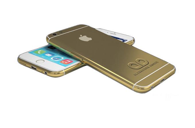 iPhone 6'yı Tim Cook'tan önce altın kaplama ile Alexander Amosu satmaya başladı!
