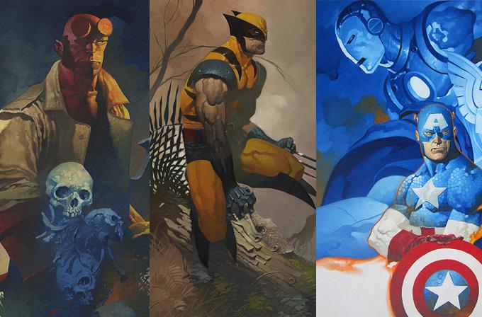 Galeri: Süper kahramanlar bu sefer yağlı boyada