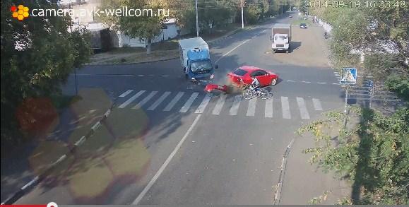 Bisiklet sürücüsünün mucizevi kurtuluşunu mutlaka izleyin