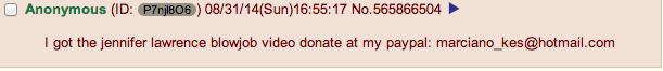 Hacker bu şekilde bağış istedi